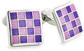 David Donahue Men's Enamel Check Cuff Links
