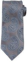 Ermenegildo Zegna Oversized-Paisley Silk Tie, Gray