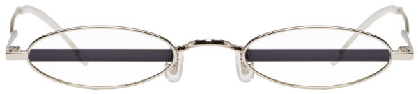 Gentle Monster Silver and Purple Stripe Vector Sunglasses