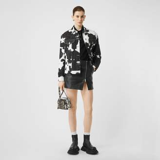 Burberry Cow Print Denim Jacket