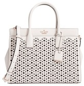 Kate Spade Cameron Street - Candace Perforated Leather Satchel - White