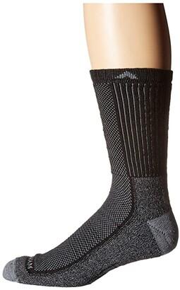 Wigwam Cool Lite Hiker Pro Crew (Black/Grey) Crew Cut Socks Shoes