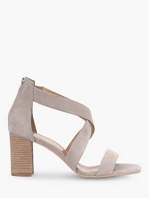 Mint Velvet Teagan Suede Crossover Sandals, Mink