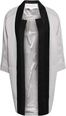Amanda Wakeley Mesh-trimmed Satin Coat