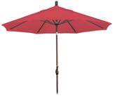 California Umbrella 9' Push Tilt Aluminum Market Umbrella