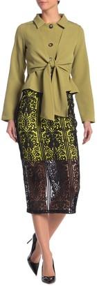 Gracia Contrast Lining Lace Midi Skirt