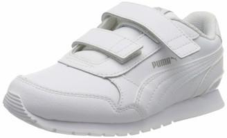 Puma Kids' ST Runner V2 L V PS Sneaker White-Gray Violet 10 UK