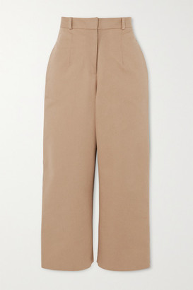 MATÉRIEL Button-detailed Cotton-twill Straight-leg Pants - Beige