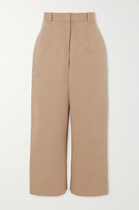 MATÉRIEL Button-detailed Cotton-twill Straight-leg Pants - Beige