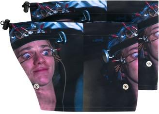 Undercover graphic print fingerless gloves