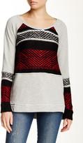 Vintage Havana Knit Panel Sweatshirt