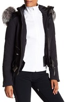Spyder Amour Genuine Silver Fox Fur Trim Jacket