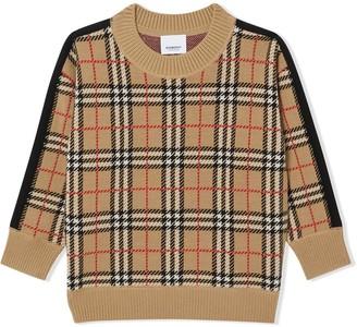 BURBERRY KIDS Icon Stripe wool sweater