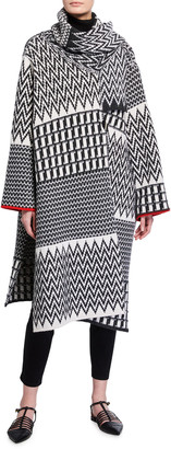 Stella McCartney Zigzag Wool Cape
