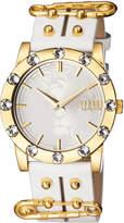 Versus By Versace Miami Crystal Round 40mm Women's Watch, Golden/White