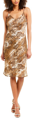 City Sleek Draped Back Midi Dress
