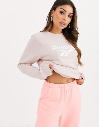 Reebok Vector sweatshirt in baby pink