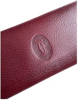 Cartier Burgundy Leather Wallets