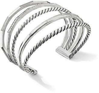 David Yurman Stax Narrow Bracelet with Diamonds