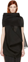 Rick Owens Black Sleeveless Turtleneck