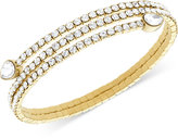 Swarovski Twisty Crystal Pear-Shaped Bangle Bracelet