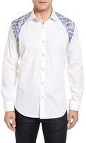 Bogosse Men's Zack 61 Jacquard Inset Sport Shirt