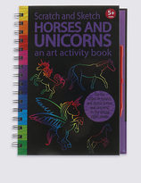 Marks and Spencer Scratch & Sketch Animals Activity Book