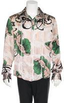 Just Cavalli Silk Floral Woven Shirt