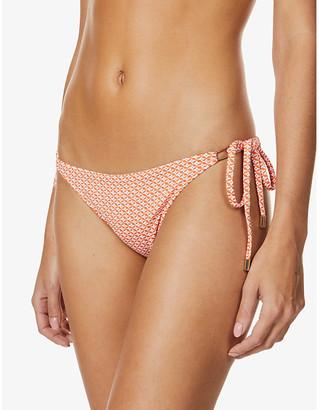 Melissa Odabash Cancun snakeskin-print high-rise bikini bottoms