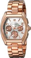 Vernier Women's VNR11147RG Boyfriend Tonneau Faux-Chrono Bracelet Watch
