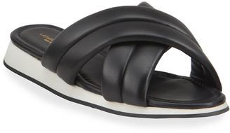 Lafayette 148 New York Perle Padded Crisscross Slide Sandals