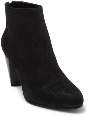 Seychelles Nothing Was The Same Snakeskin Embossed Leather Ankle Bootie