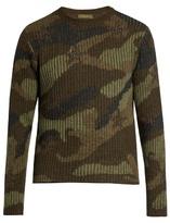 Valentino Camouflage-print wool sweater