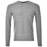 Giorgio Armani Jeans Striped Knitted Crew Neck Jumper Grey
