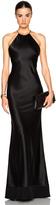 Calvin Klein Collection Fawn Satin Silk Charmeuse Gown