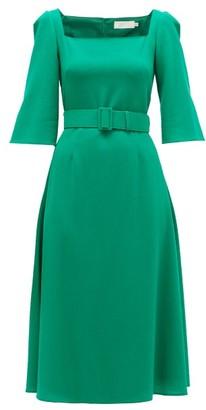 Goat Jubilee Belted Crepe Midi Dress - Green