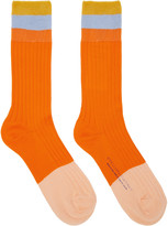 Stella McCartney Orange Short Striped Socks