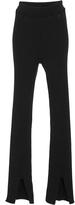 Courreges Cotton and Cashmere-Blent Pants