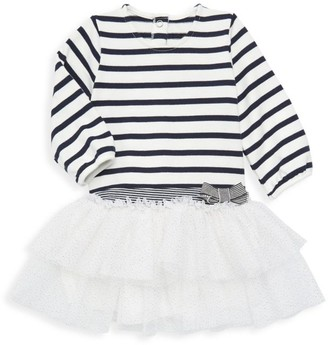 Petit Bateau Baby Girl's Stripe & Sparkle Dress