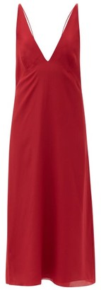 Raey Bust-cup Silk Crepe De Chine Slip Dress - Red