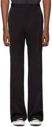 Lanvin Black Wool Wide Trousers