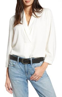 Treasure & Bond Shawl Collar Texture Top