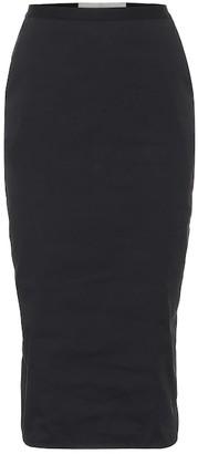 Rick Owens Soft Pilar stretch-cotton midi skirt