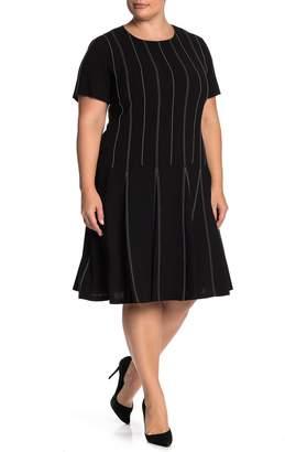 Lafayette 148 New York Malita Drop Waist Dress (Plus Size)