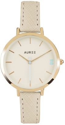 Auree Jewellery Montmartre Yellow Gold Watch With Almond & Pale Blue Strap