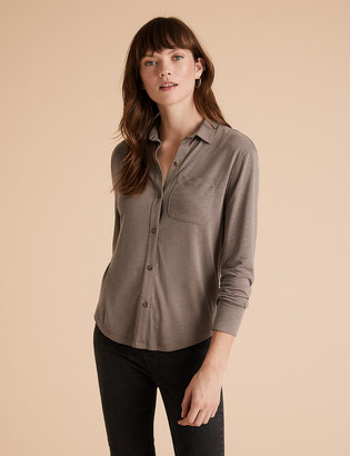 Marks and Spencer Modal Long Sleeve Shirt