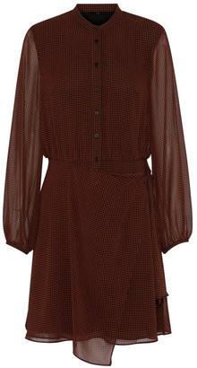 Cue Houndstooth Wrap Front Dress