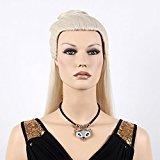 """Stfantasy Wigs for Women Long Straight Heat Friendly Synthetic Hair 25"""" 235g Updo Wig Peluca Free Hair Net + Clips, Beige"""