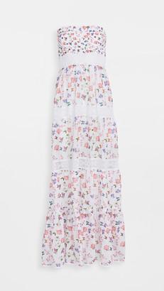 Temptation Positano Amalfi Butterfly Off Shoulder Maxi Dress