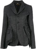 Comme des Garcons dusty effect blazer - women - Nylon/Polyester/Cupro/Wool - M